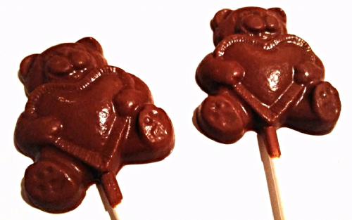 Teddy Heart Lolly